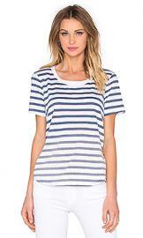 Splendid Sunfaded Stripe Jersey Tee in Navy from Revolve com at Revolve