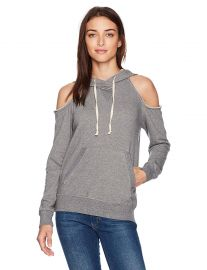 Splendid Women s Soft Cotton Gray Cold Shoulder Hoodie at Amazon
