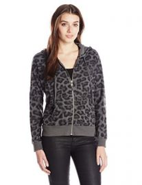 Splendid Womenand39s Distressed Leopard Print Hoodie at Amazon