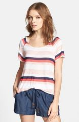 Splendid and39Horizon Stripeand39 Jersey Tee in orange at Nordstrom