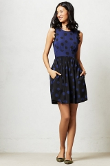 Split Dots Dress at Anthropologie