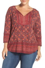 Split Neck Blouse by Lucky Brand at Nordstrom Rack