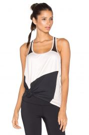 Splits59 Shira Tank in Black  amp  Blush at Revolve