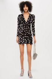 Spot Satin Frill Dress - Clothing at Topshop