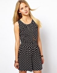 Spot print romper at Asos