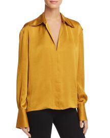 Spread Collar Blouse by Theory at Bloomingdales
