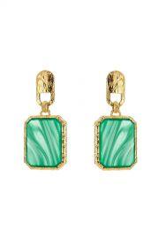 Square Stone Earrings  Balenciaga at Stylebop