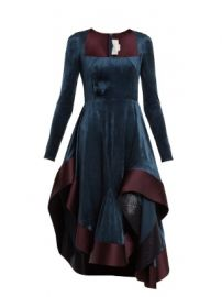 Square-neck stretch-velvet dress at Matches