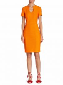 St  John - Short Sleeve V-Neck Dress at Saks Fifth Avenue
