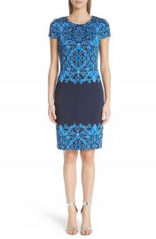 St  John Collection Cool Tones Brocade Knit Dress at Nordstrom