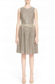 St  John Collection Hand Beaded Bauble Knit Dress at Nordstrom