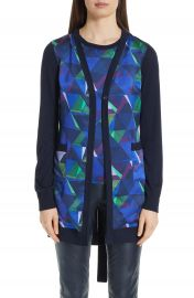 St  John Collection Jersey  amp  Silk Cardigan   Nordstrom at Nordstrom