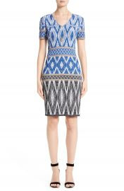 St  John Collection Kiara Geo Knit Dress at Nordstrom