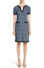 St  John Collection Short Sleeve Knit Dress at Nordstrom