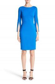 St  John Collection Split Sleeve Milano Knit Dress at Nordstrom
