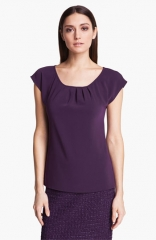 St John Collection Crepe Top at Nordstrom