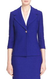 St John Collection Newport Knit Jacket in Blue at Nordstrom