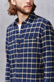 Stapleford Chico Plaid Flannel Button-Down Shirt at Urban Outfitters