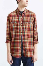 Stapleford Frisco Plaid Flannel Button-Down Shirt at Urban Outfitters