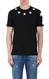 Star-Appliqued Cotton Jersey T-Shirt by Givenchy at Barneys