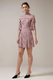 Star Crossed Lace Mini Dress by Keepsake at Fashion Bunker