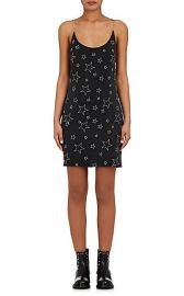 Star Embroidered Charmeuse Slipdress at Barneys