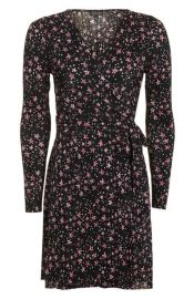Star Plissé Wrap Dress Topshop at Nordstrom