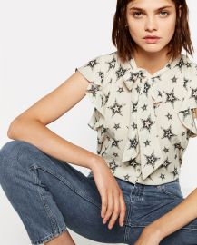 Star Print Blouse at Zara