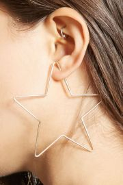 Star Shape Hoop Earrings   Forever 21 - 1000138996 at Forever 21