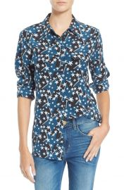 Star print blouse at Nordstrom