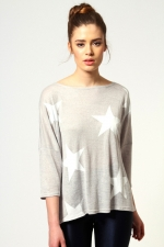 Star sweatshirt at Boohoo at Boohoo