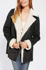 Staring At Stars Oversized Sherpa Moto Jacket at Urban Outfitters
