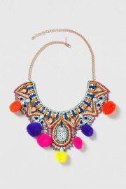 Statement Festival Pom-Pom Necklace at Topshop