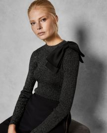 Statement bow sweater at Ted Baker