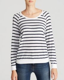 Stateside Tee - Stripe Thermal Raglan at Bloomingdales
