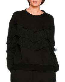 Stella McCartney Tiered V-Fringe Sweatshirt  at Neiman Marcus