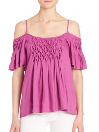 Stella Cold Shoulder Top by Ella Moss at Saks Fifth Avenue