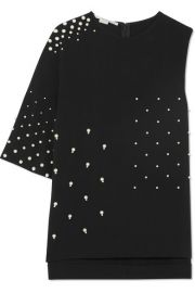 Stella McCartney   Asymmetric faux pearl-embellished cady top at Net A Porter