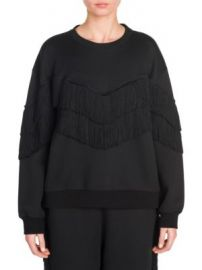 Stella McCartney - Cotton Fringe Sweatshirt at Saks Fifth Avenue