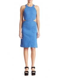 Stella McCartney - Cutout Denim Dress at Saks Fifth Avenue