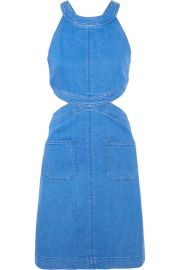 Stella McCartney   Cutout stretch-denim dress at Net A Porter