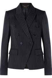 Stella McCartney   Double-breasted pinstriped wool-blend blazer at Net A Porter