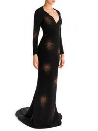 Stella McCartney - Embellished Deep V-Neck Gown at Saks Fifth Avenue