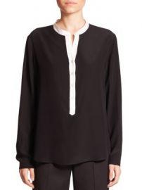 Stella McCartney - Eva Silk Tuxedo Blouse at Saks Fifth Avenue