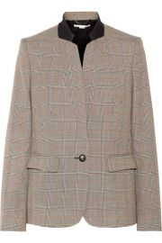 Stella McCartney   Fleur Princes of Wales checked wool blazer at Net A Porter
