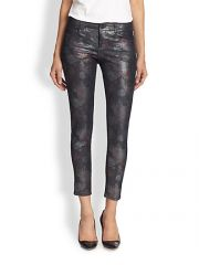 Stella McCartney - The Skinny Metallic Printed Ankle Jeans at Saks Fifth Avenue