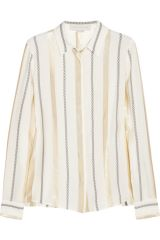 Stella McCartney Metallic Striped Silk Shirt at The Outnet
