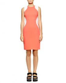 Stella McCartney Miracle Sleeveless Colorblock Dress Bubble Gum at Neiman Marcus