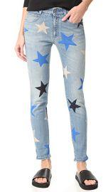 Stella McCartney Skinny Boyfriend Star Print Jeans at Shopbop