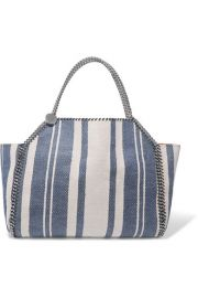 Stella McCartney Striped Falabella Tote at Net A Porter
